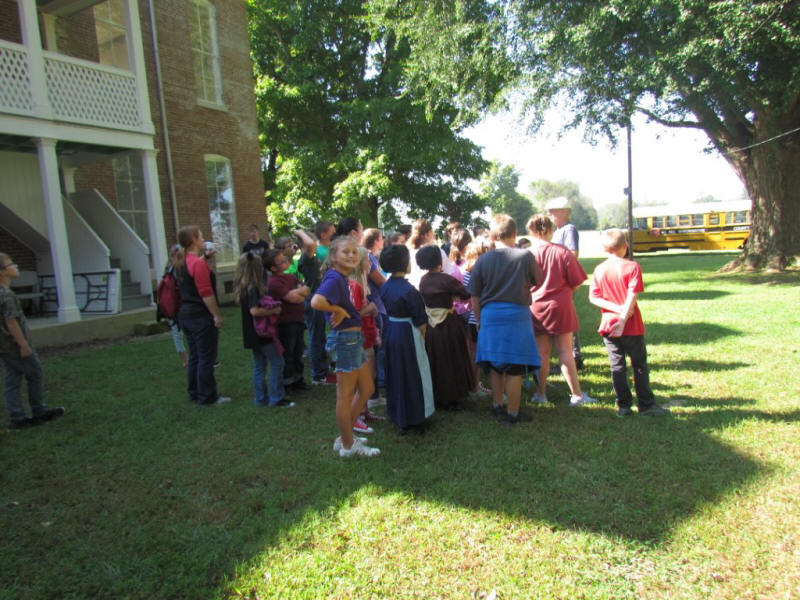 Students also learned about the historic trees